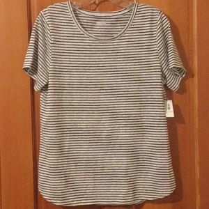 Old Navy NWT stripe linen blend tee, medium